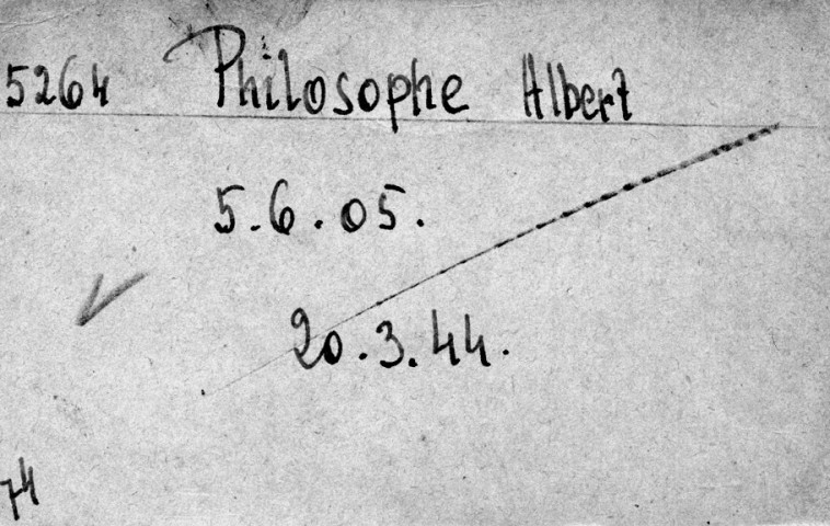 PHILOSOPHE Albert