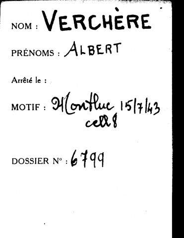 VERCHERE Albert